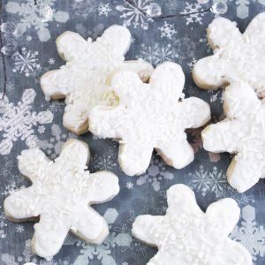 Snowflake Cream Cheese Sugar Cookies