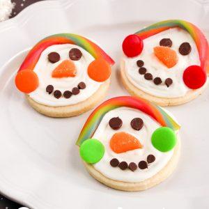 Snowman Cream Cheese Sugar Cookies